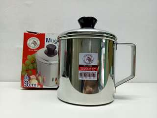 Mug stainless steel Zebra Thailand 9cm with lid