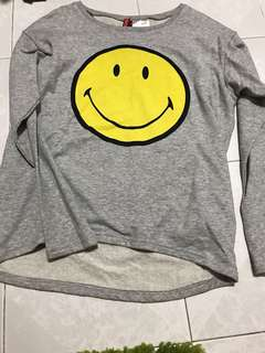 H&M smiley pullover