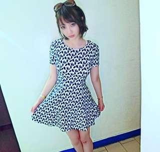 🚚 黑白格紋洋裝