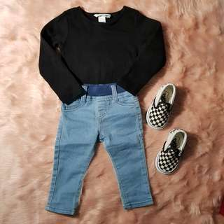 Terno H&M/JustJeans 6-9 mos