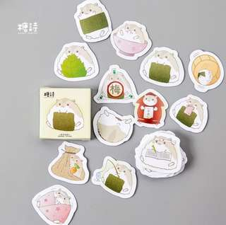 [Stickers] #26 Little Hamster Stickers for diary and scrapbooking