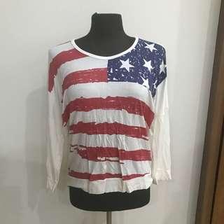American Flag 3/4 Longsleeve
