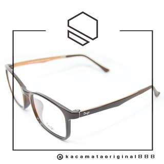 Frame Kacamata Original Murah DUGO D3925 Paket Free Gratis Lensa Plastik TR90 Kuat&Lentur Made in Korea