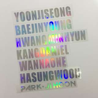 Wannaone hologram sticker