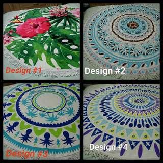 (BN) Round Microfiber Mandala Tapestry/Beach Mat/Throw Towel