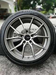 Advanti 17 inch sports rim civic fb tyre 70%. *dibulan ramadhan, banyakkan berzikir, so brother apa lagi yang nak difikir???!!!*