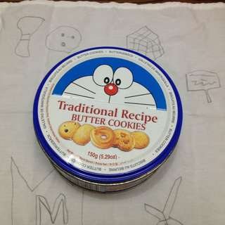 Doraemon butter cookies collectible tin