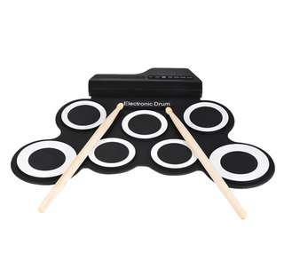 7 Pads Electronic Drum Kit with Pedals