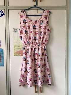 Bear design dress