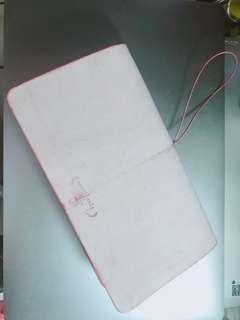 Hand-made Travelers' Notebook Regular Size Peach Red