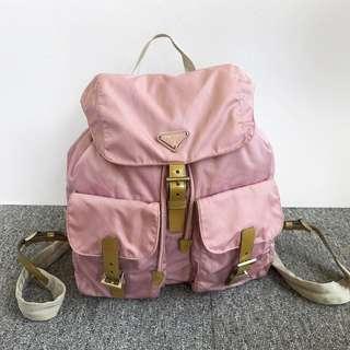 auth prada vintage tessuto backpack