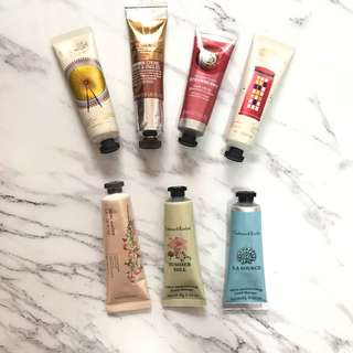 Crabtree & Evelyn/The Body Shop/ The Face Shop Hand Cream