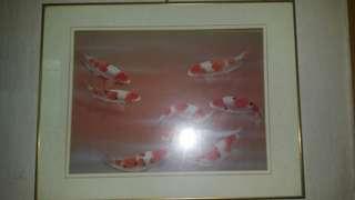 風水 鯉魚圖一幅