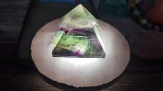Natural Fluorite Pyramid Cut