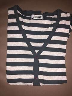 Stripes Topman London Cardigans size L in Navy and Grey