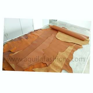 Leather scraps, partial and full sheets