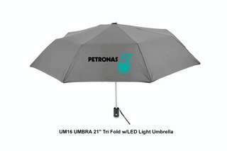 [Wholesale] UMBRA - 21'' Tri Fold w/LED Light Umbrella