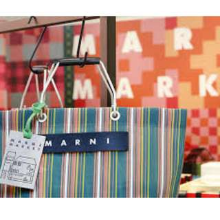 marni market 袋 沙灘/麻布袋