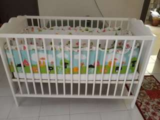 Baby Cot with mattress n bumper