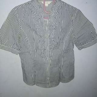 Rimple white stripe shirt