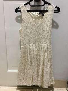 Forever21 lace broken white dress