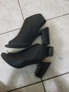 Call it spring summer booties with back cut-out