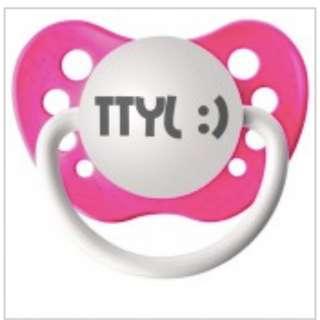 Ulubulu Pacifier | Hot Pink TTYL :)