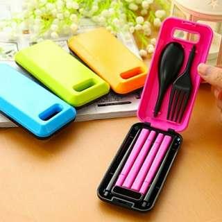 Sendok, garpu, sumpit portable / travelling