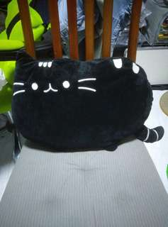 Almost new cat plushie black