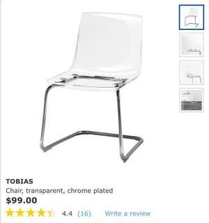 IKEA transparent chrome plated chair