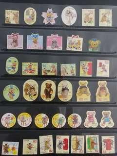 日本卡通郵票(已蓋章)                                                   * 買2件以上減5蚊