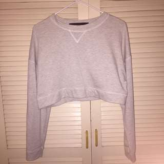 Grey Cropped Pullover