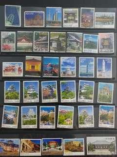 日本風景郵票(已蓋章)                                                   * 買2件以上減5蚊