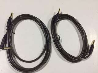 Two Guitar Cables SOMMER GERMANY - 10 feet each