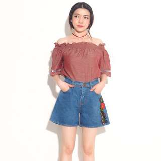 Size besar/ Embroidery short pants #mausupreme
