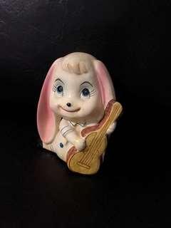 Ceramic music girl