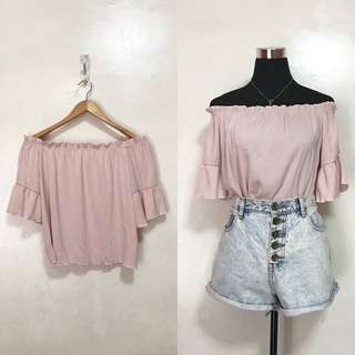 [Brandnew] Blush Pink Off Shoulder