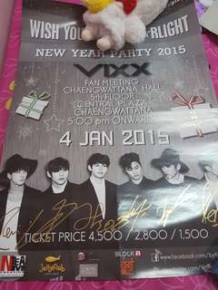 [In stock] VIXX signed on poster from VIXX fan meeting in Thailand