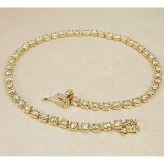 18k金3ct鑽石手鏈