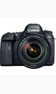 Canon EOS 6D Mark II kit 24-105mm F-4 Kamera DSLR Kredit Tanpa CC
