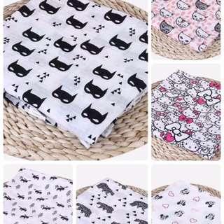 🚚 現貨⭐️Muslin棉雙層紗布包巾 萬用巾