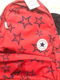 Red converse bag
