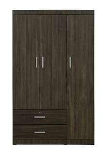 Offer!3 doors wardrobe(Walnut)
