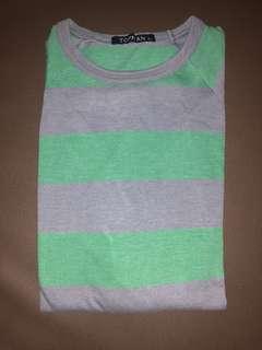 Topman London Long Shirt Green and dark grey (XL)