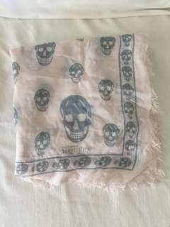 Alexander McQueen light pink and grey scarf