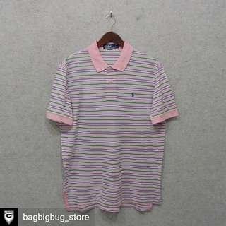 POLO by Ralph Lauren Stripe Poloshirt -Size: L fit XL