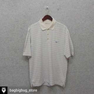 NIKE Stripe Poloshirt (dryfit) -Size: L