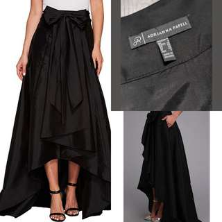 Size 4 Adrianna Papell Women's Belted Bow High-Low Ballroom Skirt