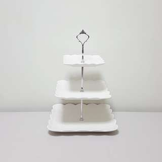 [For Rent] 3 Tier Square Cupcake Stand SS037