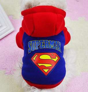 SUPERMAN hoodie for dogs
